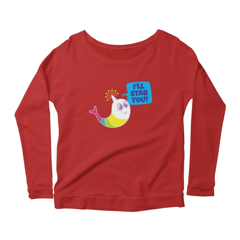 Stabby McNarwhal Women's Longsleeve Scoopneck  by Red Robot