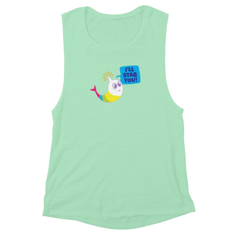 Stabby McNarwhal Women's Muscle Tank by Red Robot