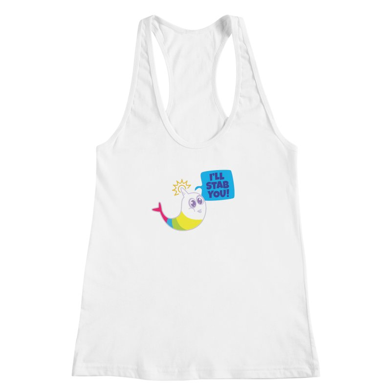 Stabby McNarwhal Women's Racerback Tank by Red Robot