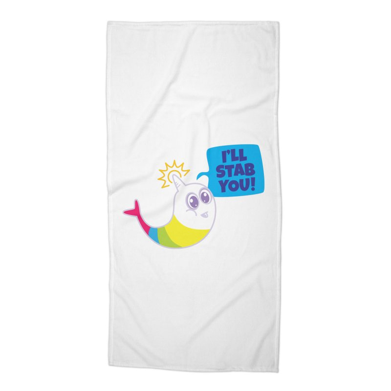 Stabby McNarwhal Accessories Beach Towel by Red Robot