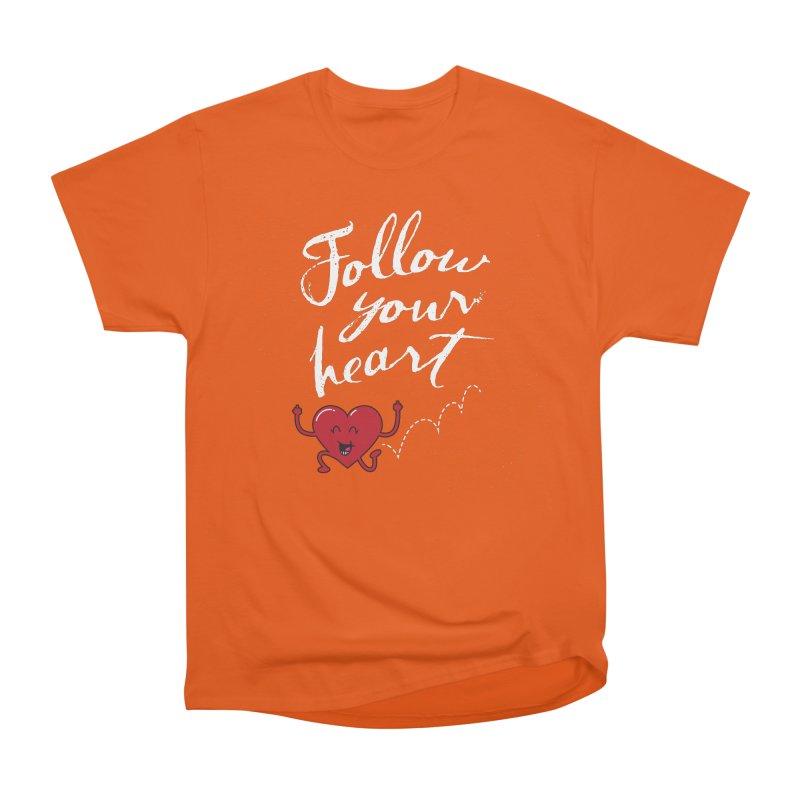 Follow Your Heart Men's T-Shirt by Red Robot
