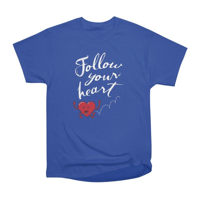 Follow Your Heart Men's Classic T-Shirt by Red Robot