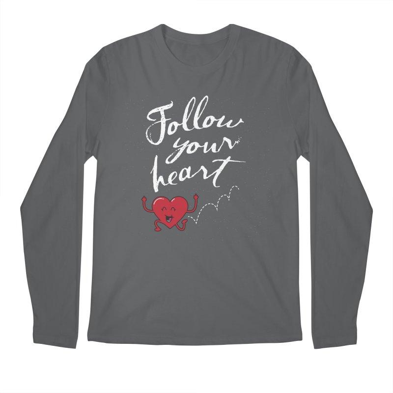 Follow Your Heart Men's Regular Longsleeve T-Shirt by Red Robot