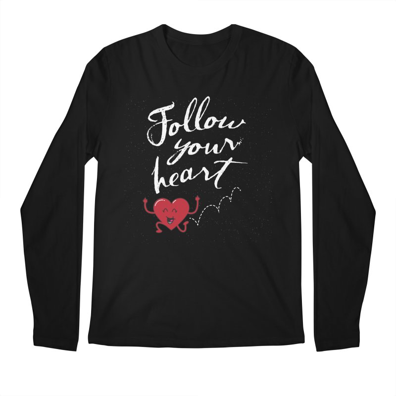Follow Your Heart Men's Regular Longsleeve T-Shirt by Red Robot