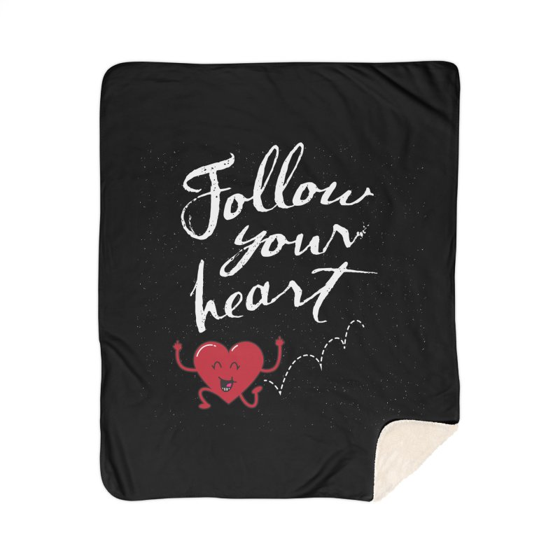 Follow Your Heart Home Blanket by Red Robot