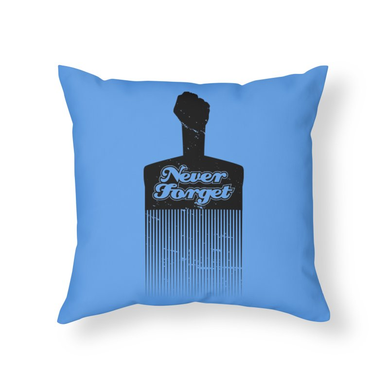 Never Forget Home Throw Pillow by Red Robot