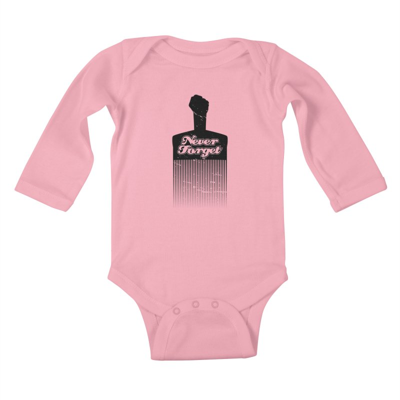 Never Forget Kids Baby Longsleeve Bodysuit by Red Robot