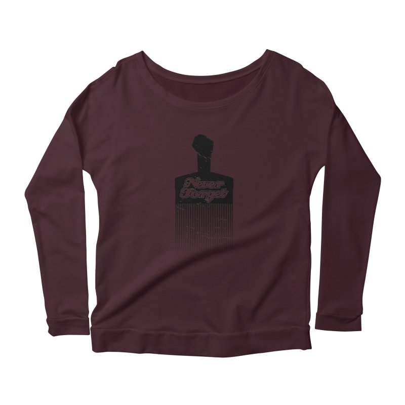 Never Forget Women's Longsleeve Scoopneck  by Red Robot