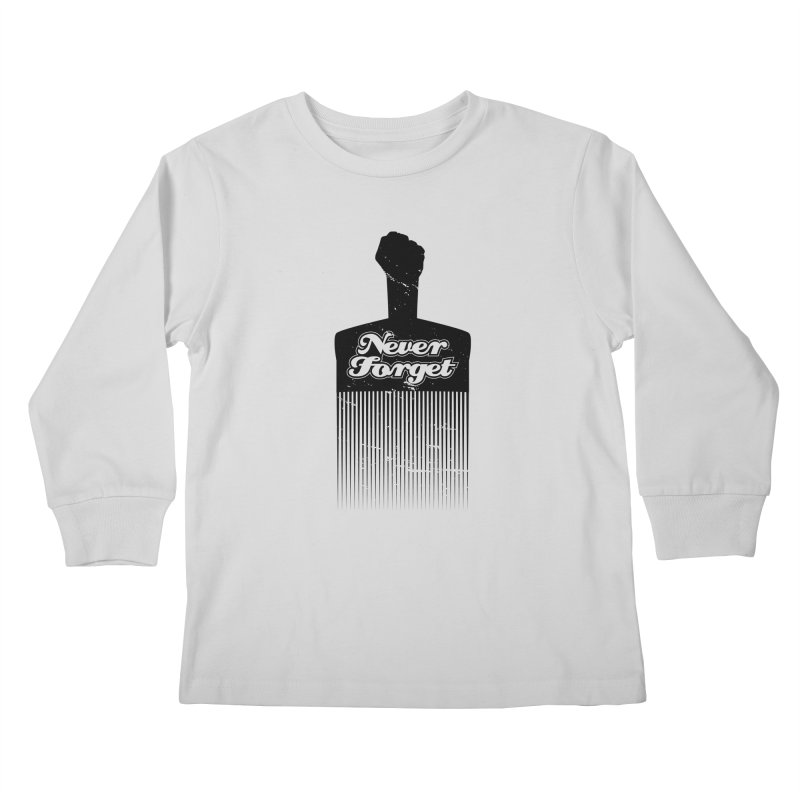 Never Forget Kids Longsleeve T-Shirt by Red Robot