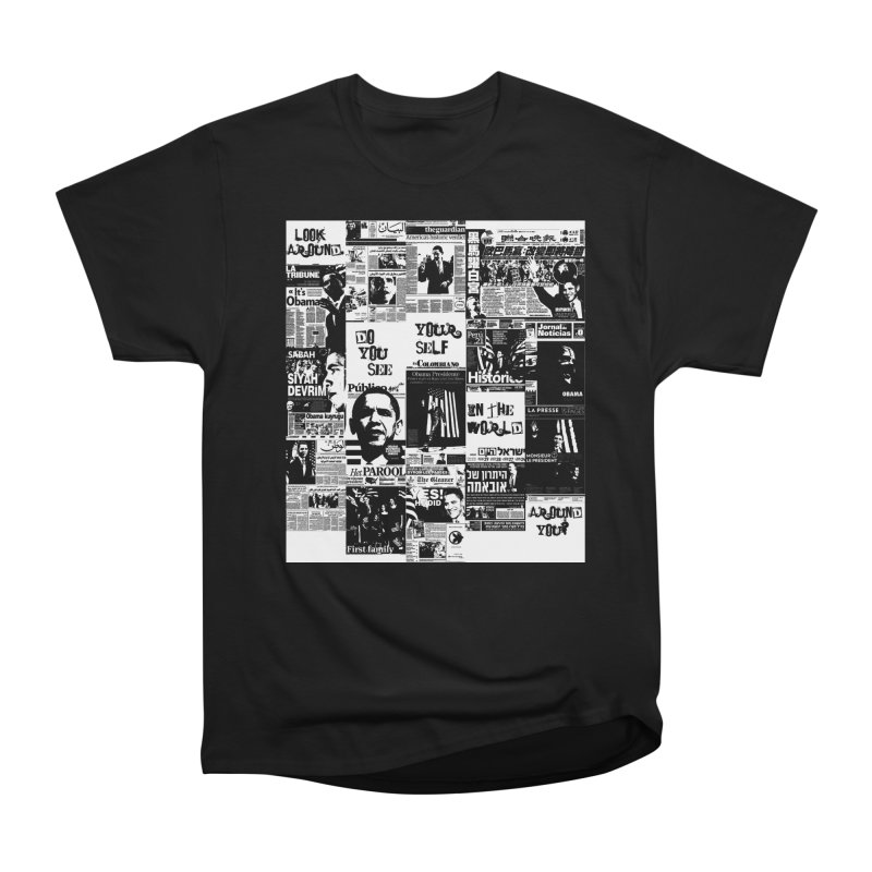 Do you see? (white) in Men's Heavyweight T-Shirt Black by Red Robot