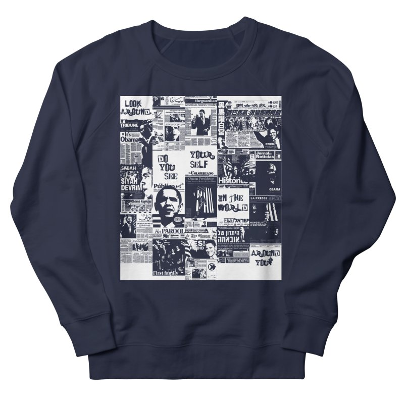 Do you see? (white) Men's French Terry Sweatshirt by Red Robot