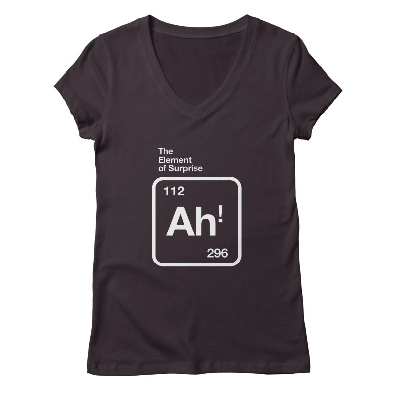 The Element of Surprise Women's Regular V-Neck by Red Robot