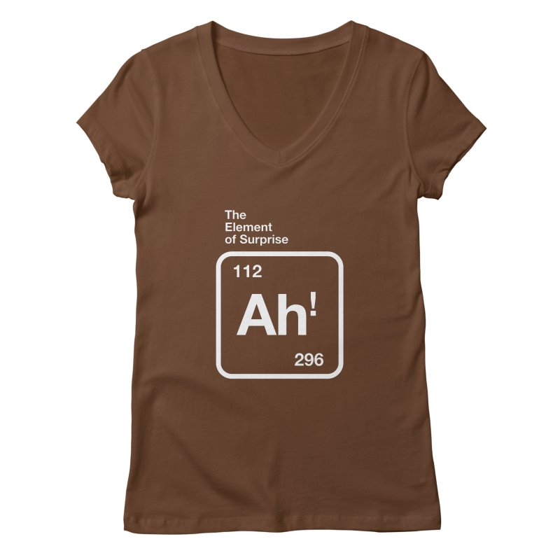The Element of Surprise Women's V-Neck by Red Robot