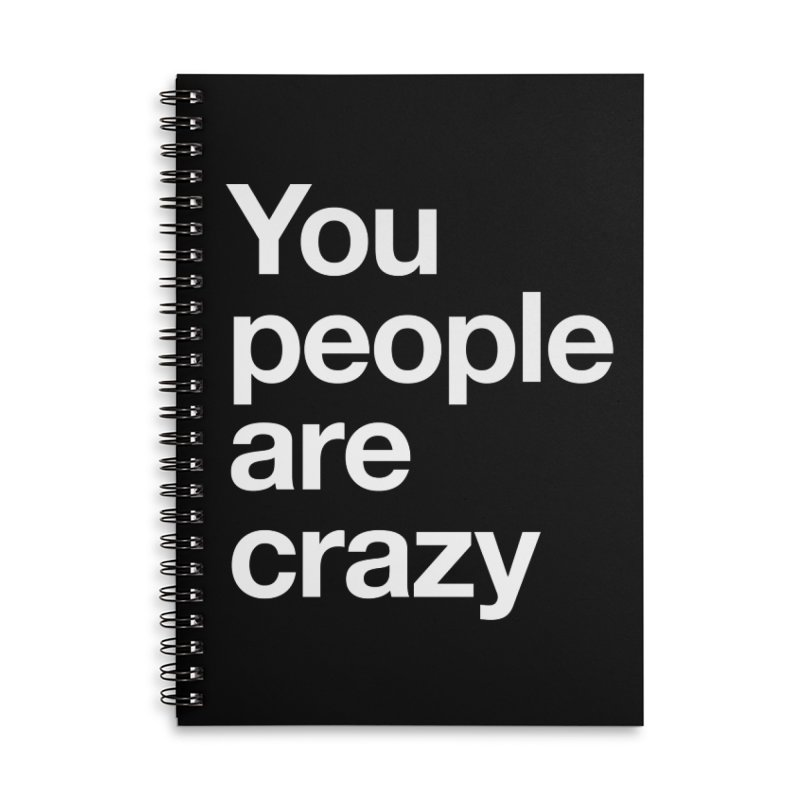 You People Accessories Lined Spiral Notebook by Red Robot