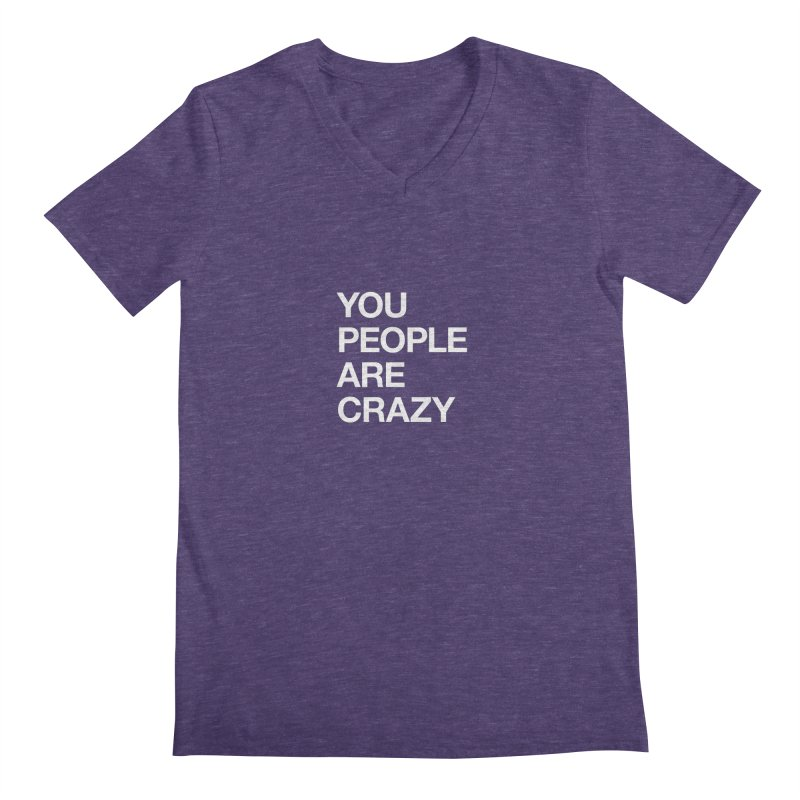 You People in Men's Regular V-Neck Heather Purple by Red Robot