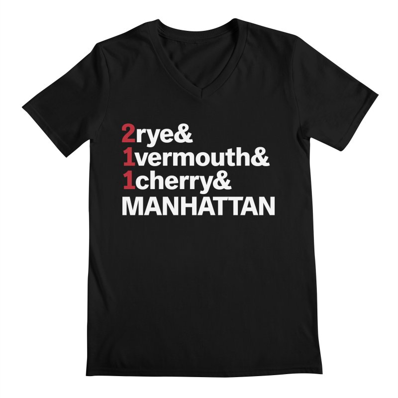 Manhattan! Men's V-Neck by Red Robot
