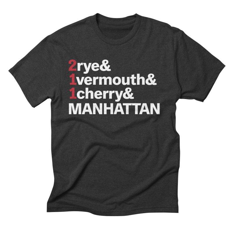 Manhattan! Men's Triblend T-shirt by Red Robot