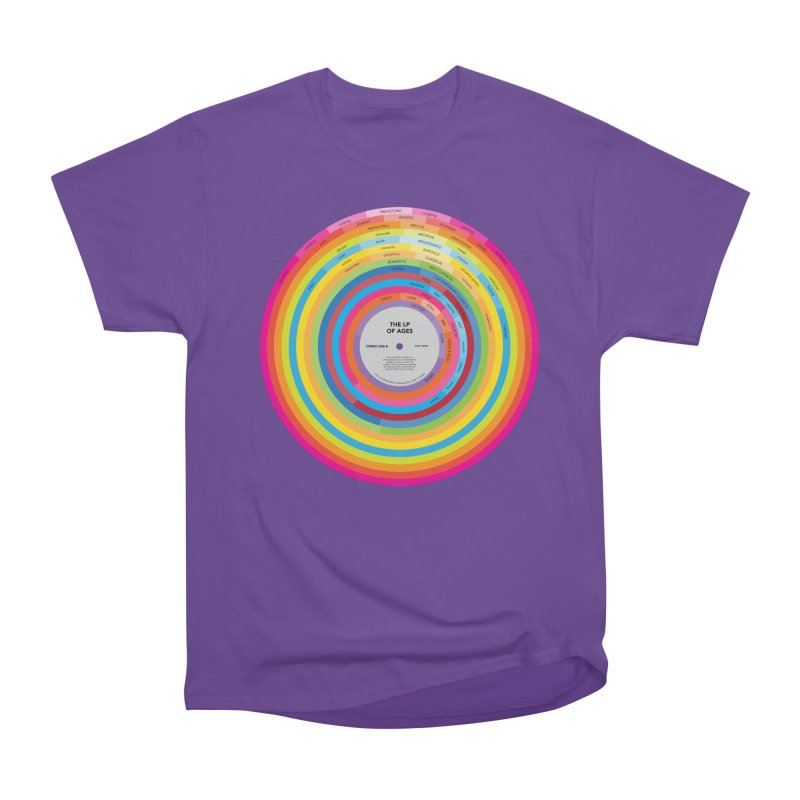 LP of Ages in Men's Classic T-Shirt Purple by Red Robot
