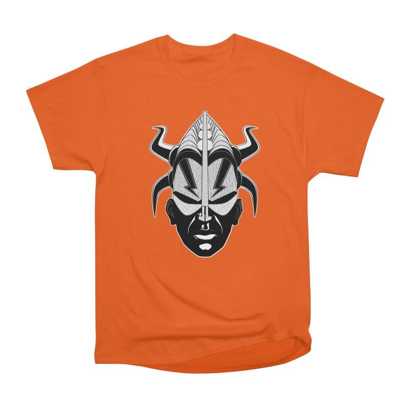 Zulu in Men's Heavyweight T-Shirt Orange Poppy by Red Robot