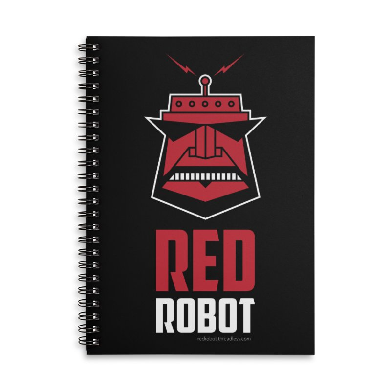 Red Robot Accessories Lined Spiral Notebook by Red Robot