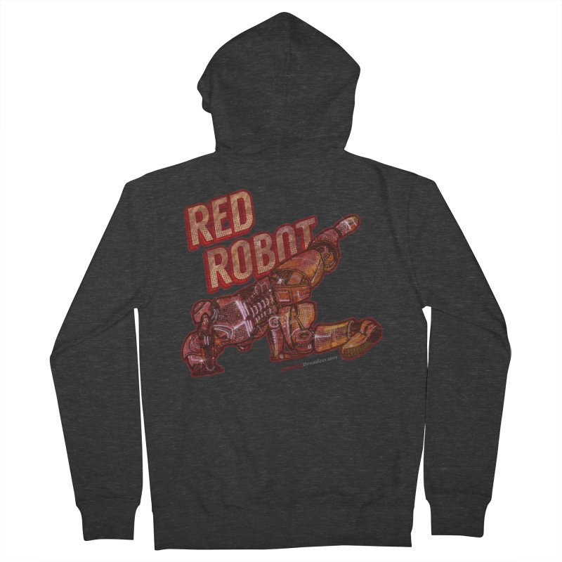 Red Robot BREAKDANCE! Men's French Terry Zip-Up Hoody by Red Robot