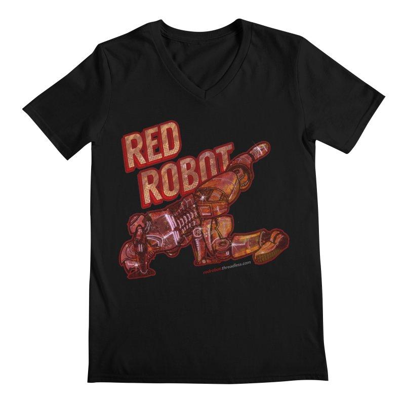 Red Robot BREAKDANCE! Men's Regular V-Neck by Red Robot
