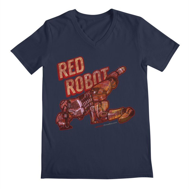 Red Robot BREAKDANCE! Men's V-Neck by Red Robot