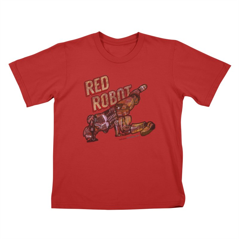 Red Robot BREAKDANCE! Kids T-shirt by Red Robot