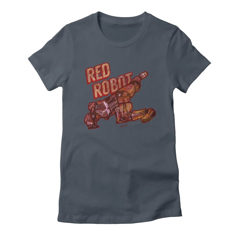 Red Robot BREAKDANCE! Women's French Terry Zip-Up Hoody by Red Robot