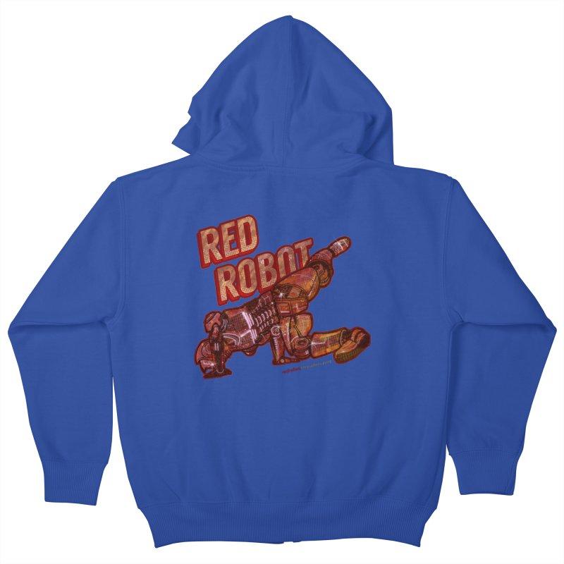 Red Robot BREAKDANCE! Kids Zip-Up Hoody by Red Robot
