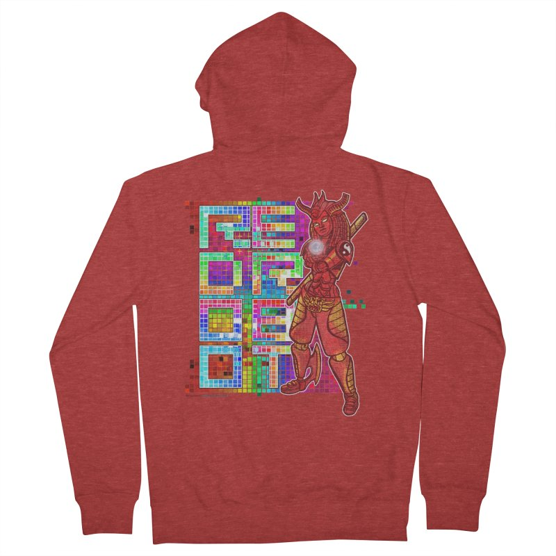 Red Robot: B-GIRLBOT Men's French Terry Zip-Up Hoody by Red Robot