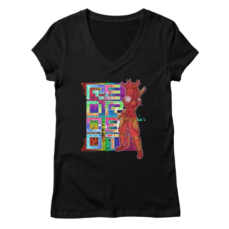 Red Robot: B-GIRLBOT Women's V-Neck by Red Robot