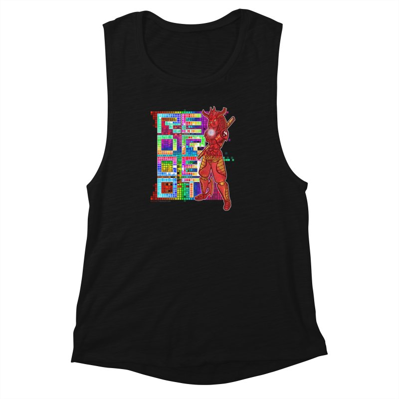 Red Robot: B-GIRLBOT Women's Muscle Tank by Red Robot