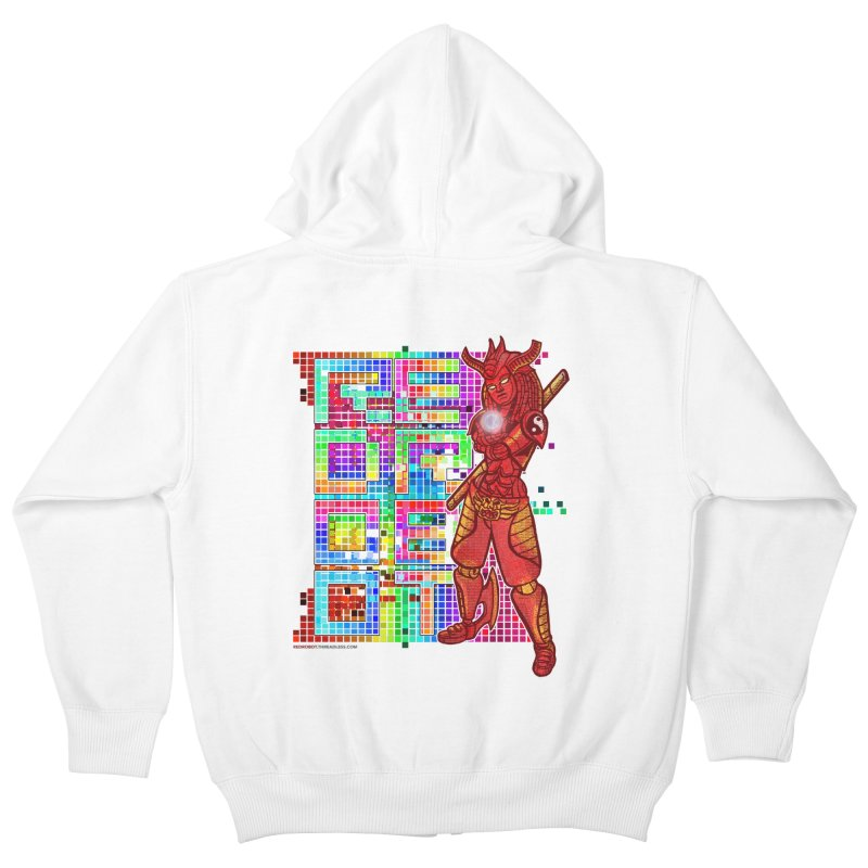 Red Robot: B-GIRLBOT Kids Zip-Up Hoody by Red Robot