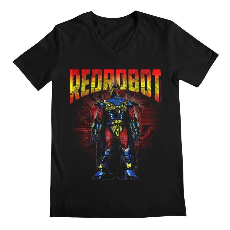 Red Robot Ronin Men's Regular V-Neck by Red Robot