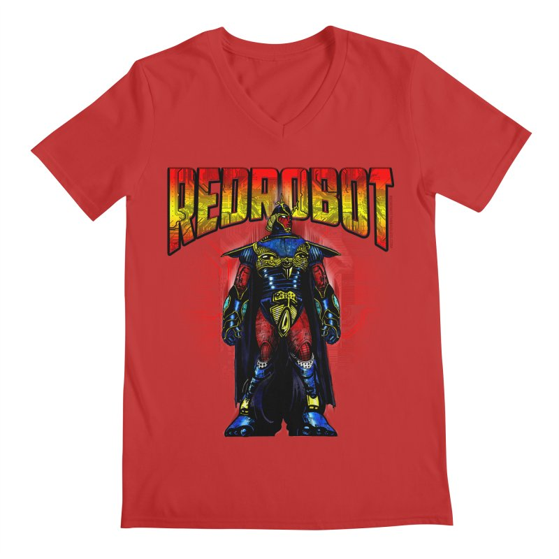 Red Robot Ronin Men's V-Neck by Red Robot