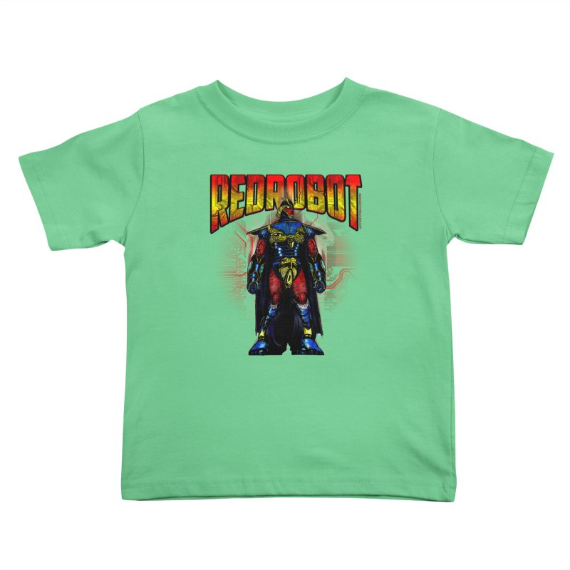 Red Robot Ronin Kids Toddler T-Shirt by Red Robot
