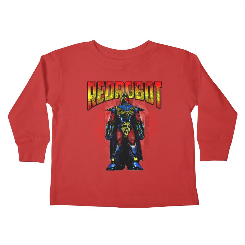 Red Robot Ronin Kids Toddler Longsleeve T-Shirt by Red Robot