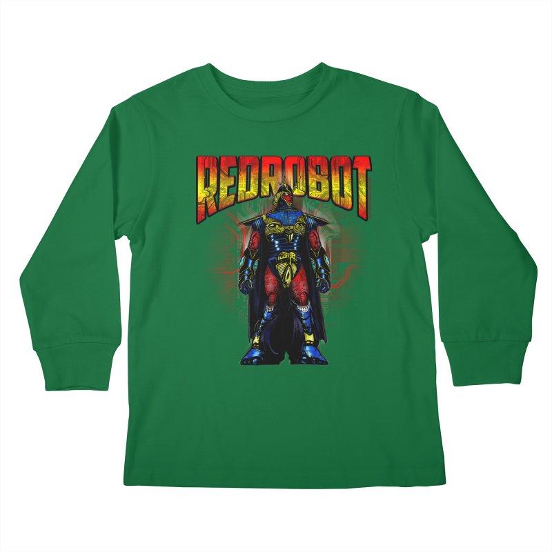 Red Robot Ronin Kids Longsleeve T-Shirt by Red Robot