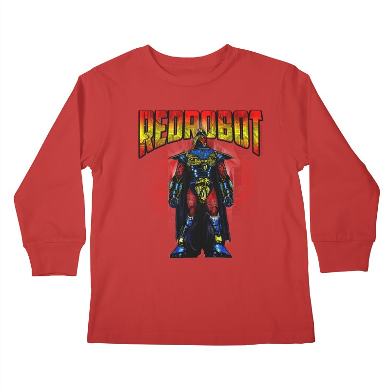 Red Robot Ronin Kids Longsleeve T-Shirt by Red Robot