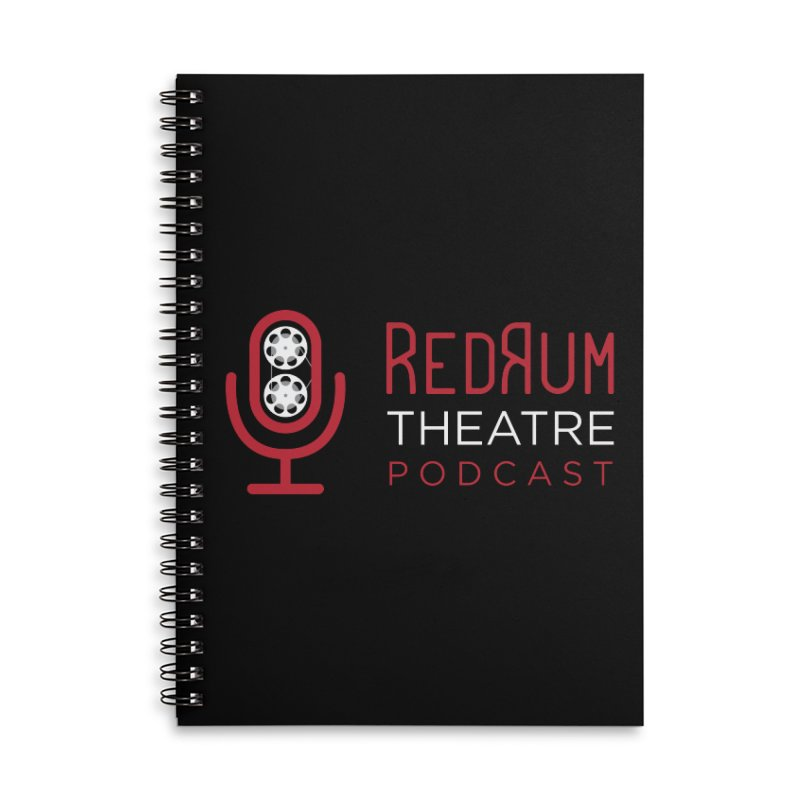 Redrum Classic Logo Accessories Lined Spiral Notebook by redrum's Artist Shop