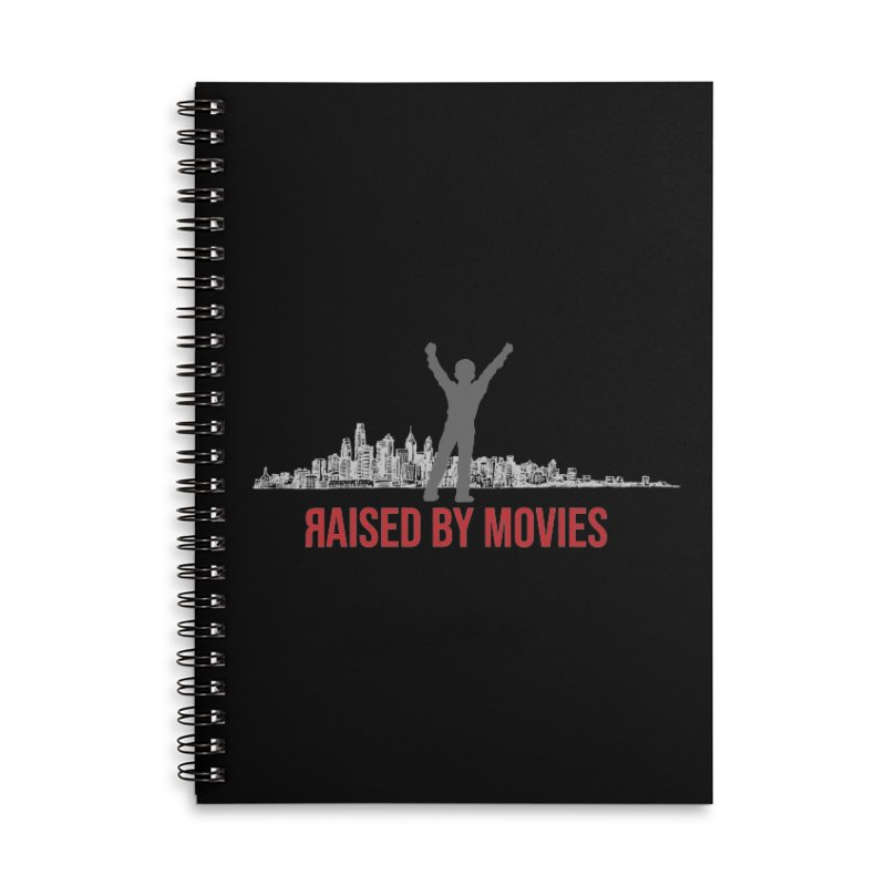 Raised by Movies Accessories Lined Spiral Notebook by redrum's Artist Shop