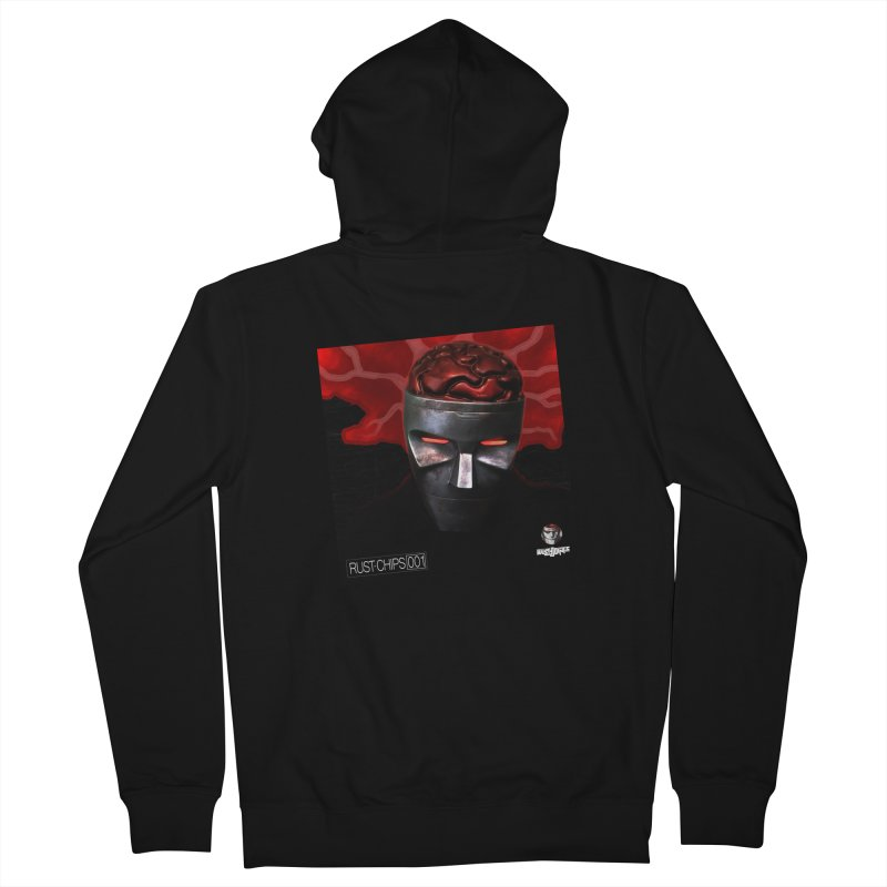 Rust Chips 001 (cover art) Men's French Terry Zip-Up Hoody by Red Rust Rum - Shop