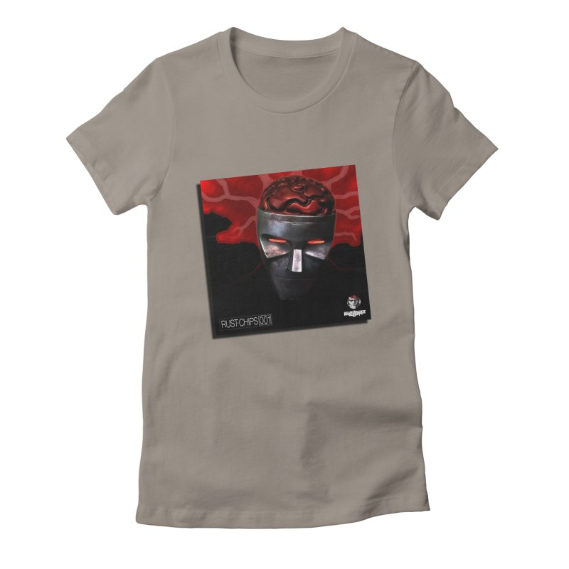 Rust Chips 001 (cover art) Women's Fitted T-Shirt by Red Rust Rum - Shop
