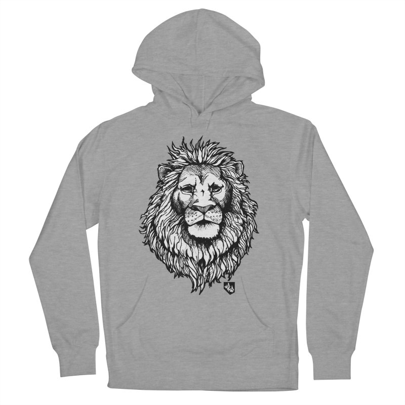 Noble Lion Men's French Terry Pullover Hoody by Red Rust Rum - Shop
