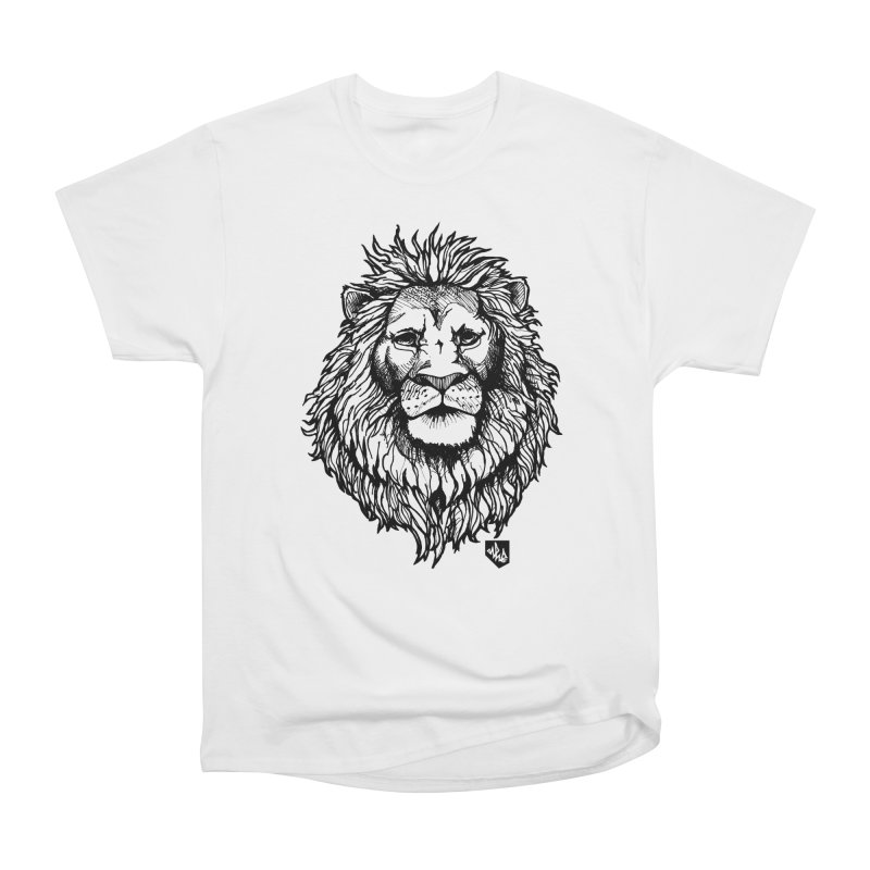 Noble Lion Women's Heavyweight Unisex T-Shirt by Red Rust Rum - Shop