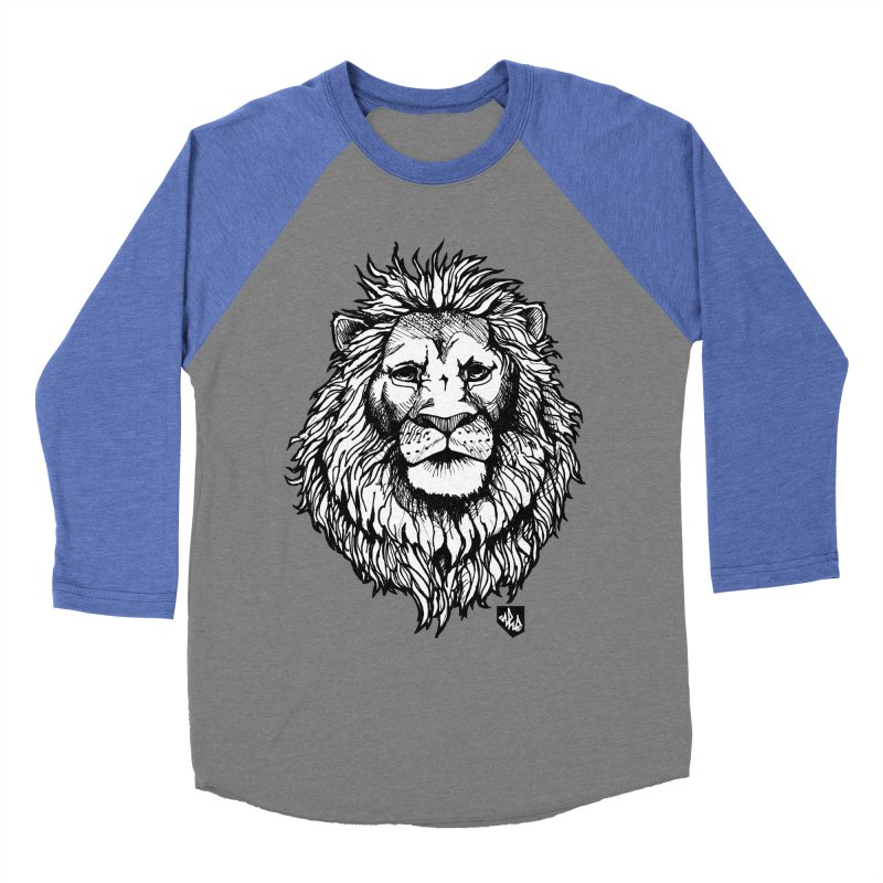 Noble Lion Women's Baseball Triblend Longsleeve T-Shirt by Red Rust Rum - Shop