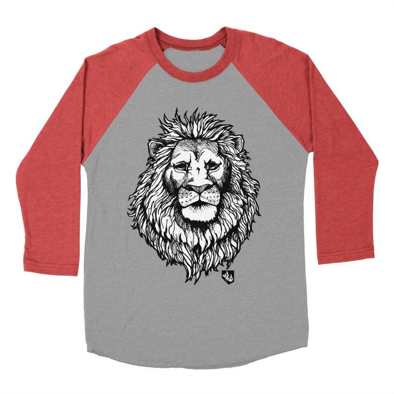 Noble Lion Men's Baseball Triblend Longsleeve T-Shirt by Red Rust Rum - Shop