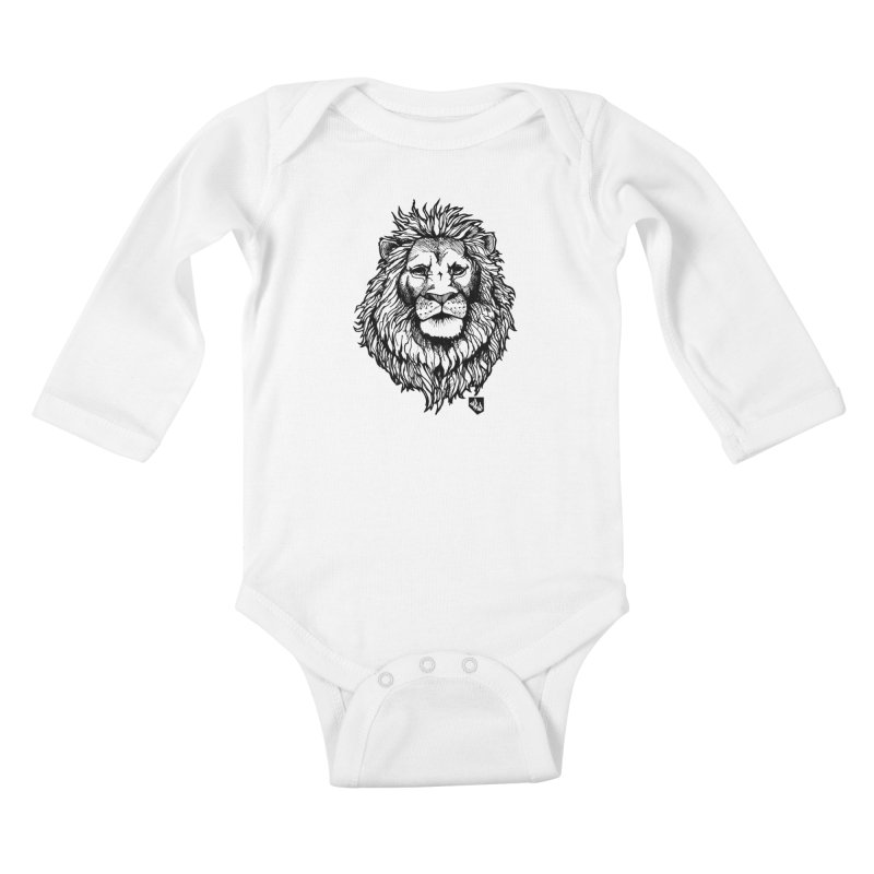 Noble Lion Kids Baby Longsleeve Bodysuit by Red Rust Rum - Shop