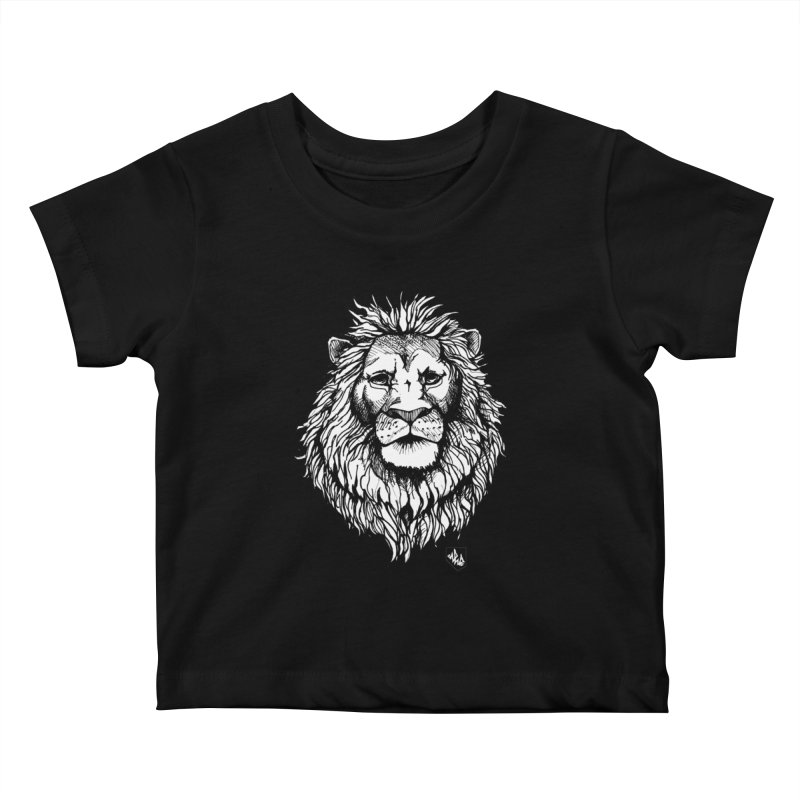 Noble Lion Kids Baby T-Shirt by Red Rust Rum - Shop